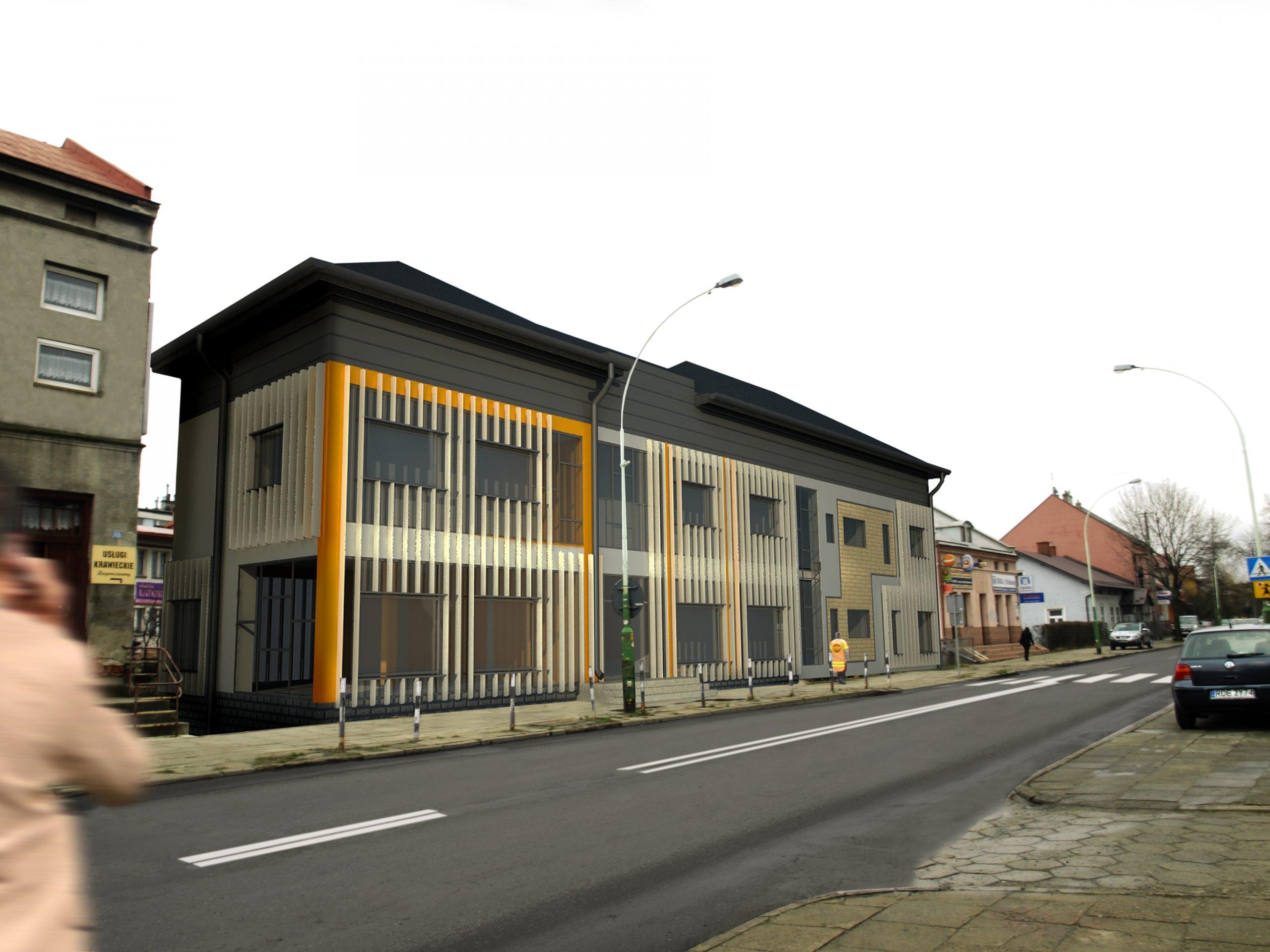 Budynek usługowy w Dębicy